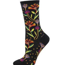 Wildflowers Black Socks