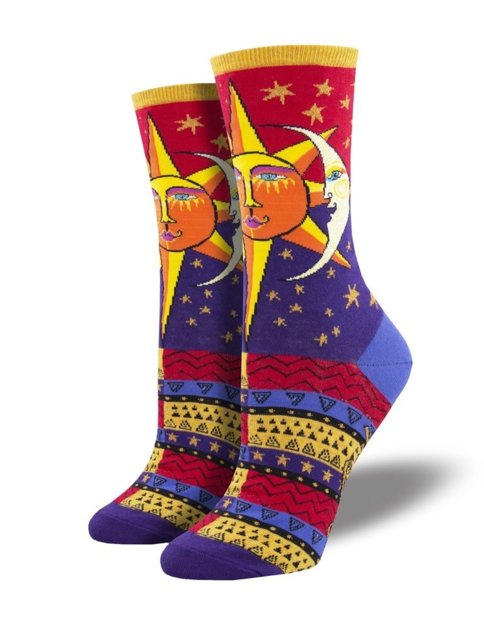 Socks Sun And Moon Red