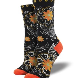 Socks Black And White Floral