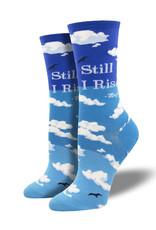 Socks Still I Rise Blue