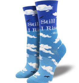 Socks Still I Rise Blue