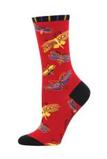 Socks Flutterbyes Red
