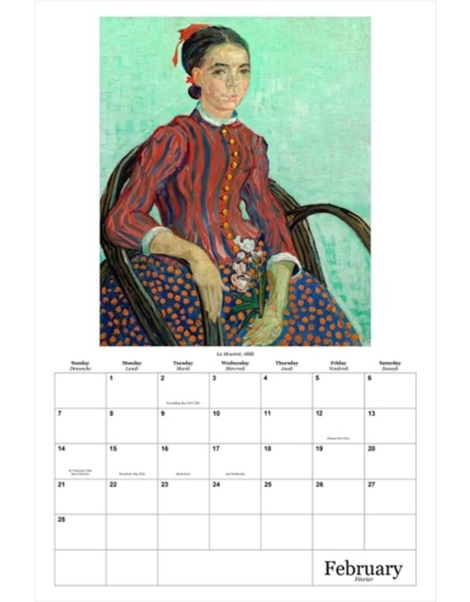 Van Gogh Wall Calendar 2021
