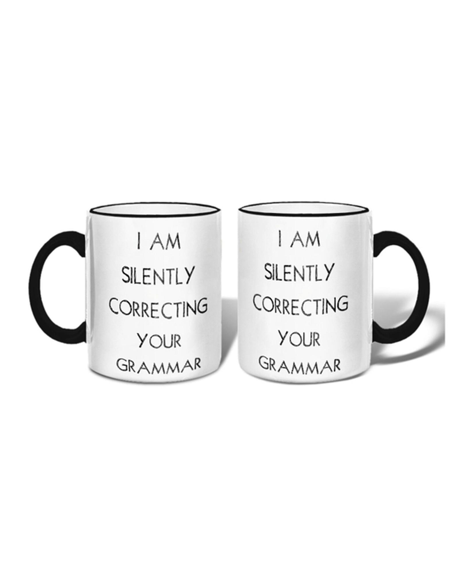 """I Am Silently Correcting Your Grammar"" Mug"
