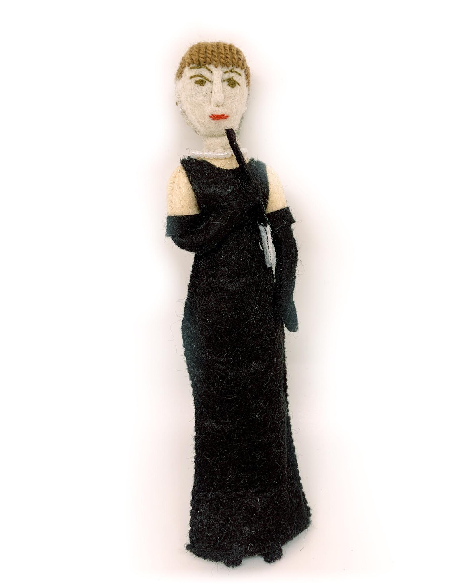 Audrey Hepburn Felt Doll