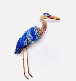 Blue Heron Brooch