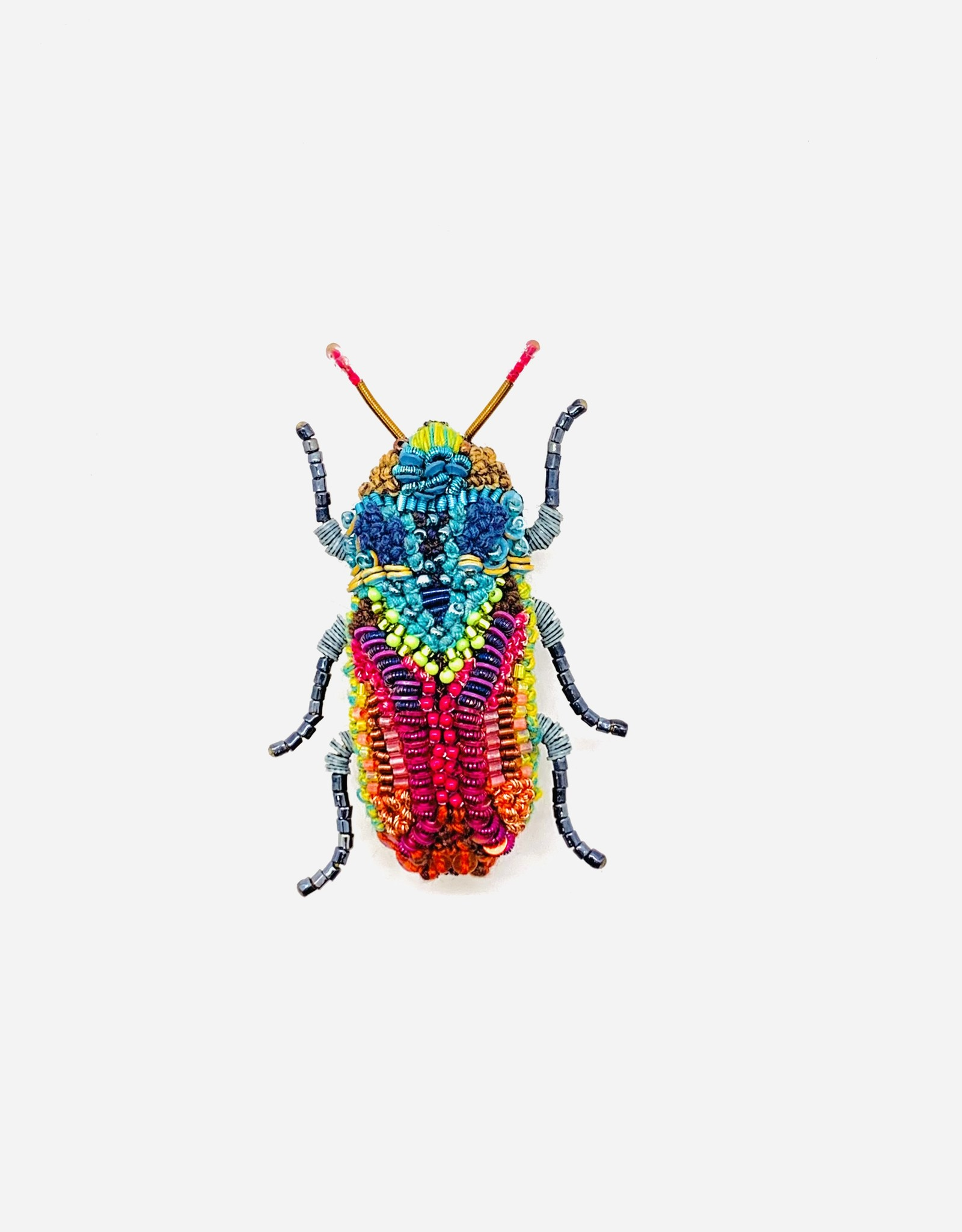 Moroccan Jewel Beetle Brooch