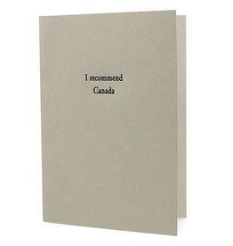 I Recommend Canada Card