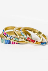 Multi Striped Bangles Set