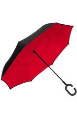 Red and Black Reverse Umbrella