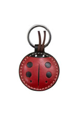 Leather Ladybug Key Ring