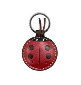 Leather Ladybug Key Ring