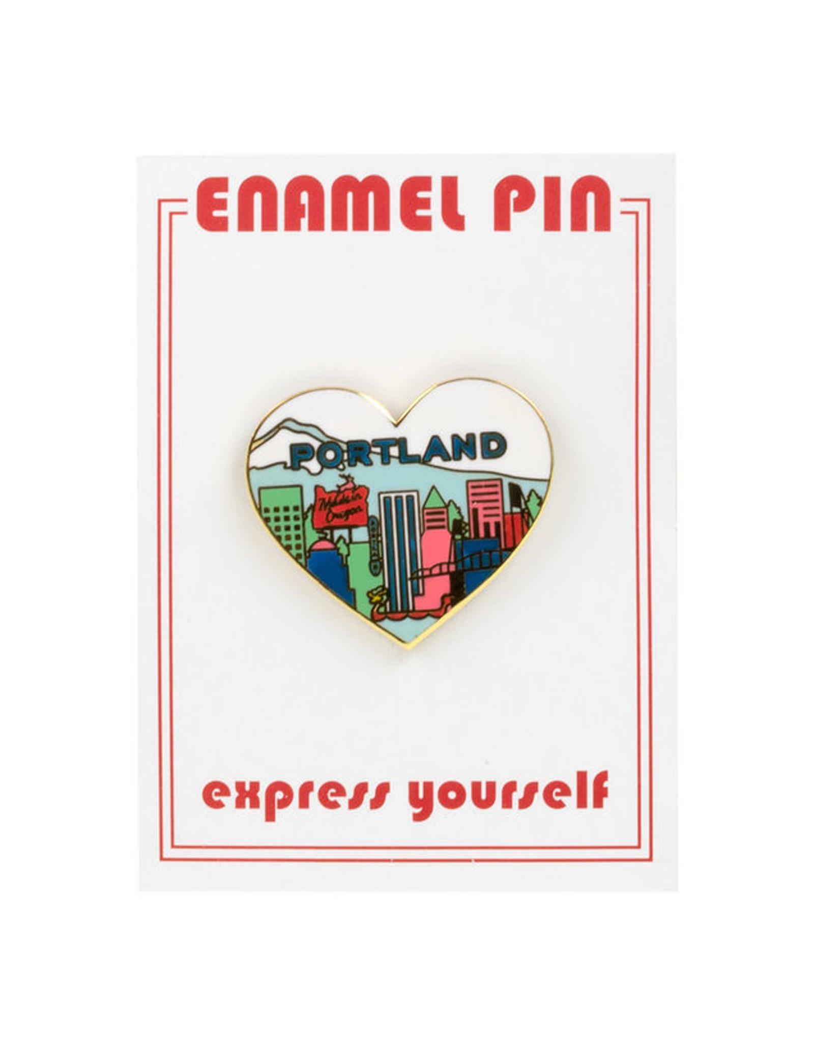 Portland Heart Enamel Pin