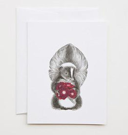 Skunk with Rose Card