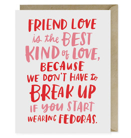 Fedoras Friendship Card