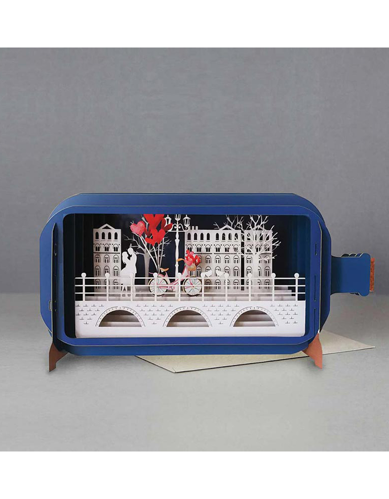 Couple and Bike 3D Popup Card