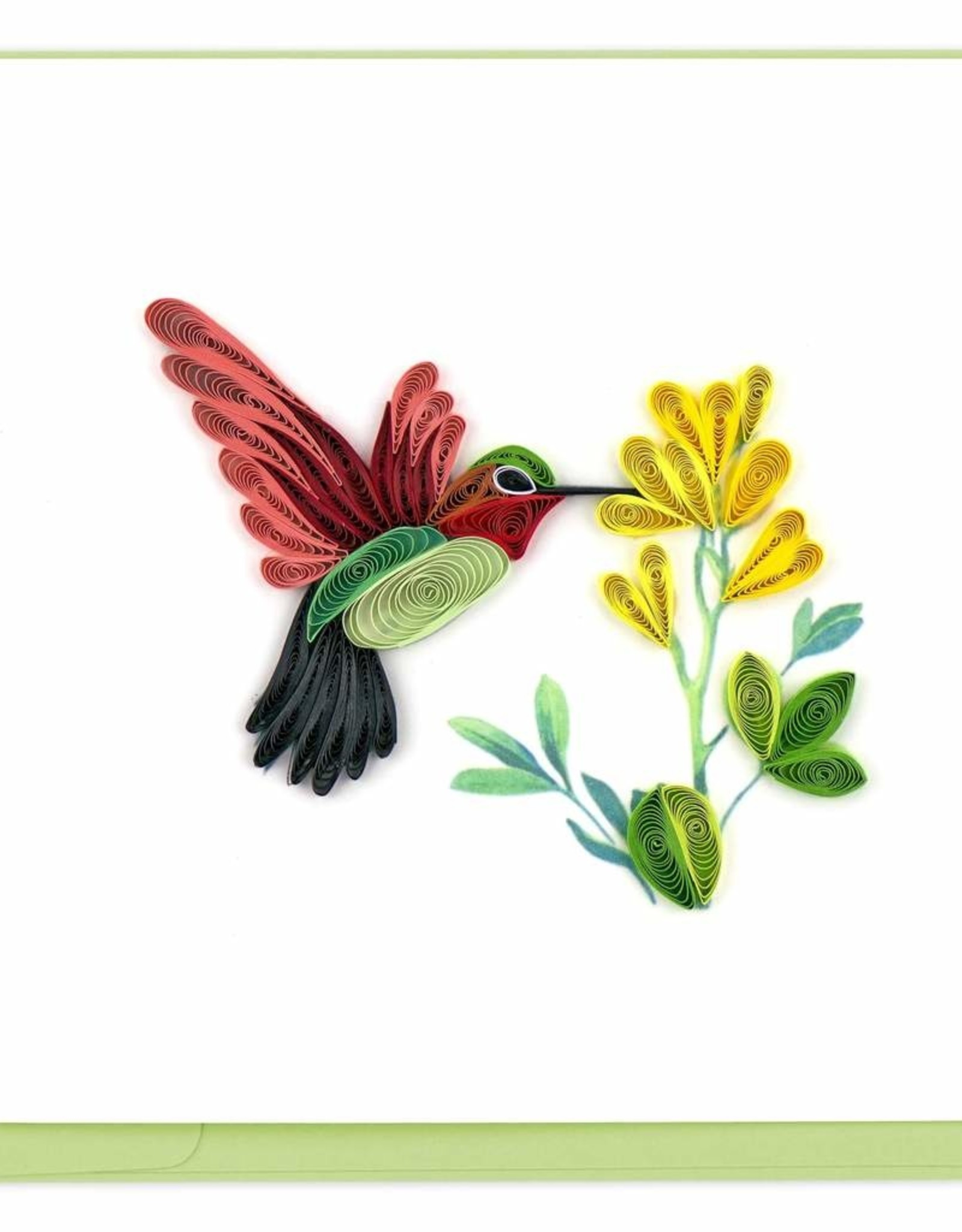 Hummingbird Quilled Card