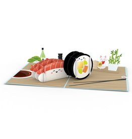 3D Sushi Popup Card