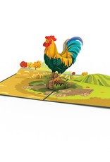 3D Rooster Popup Card
