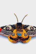 Mosaic Moth Brooch Pin