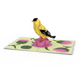 3D Popup Gold Finch Card