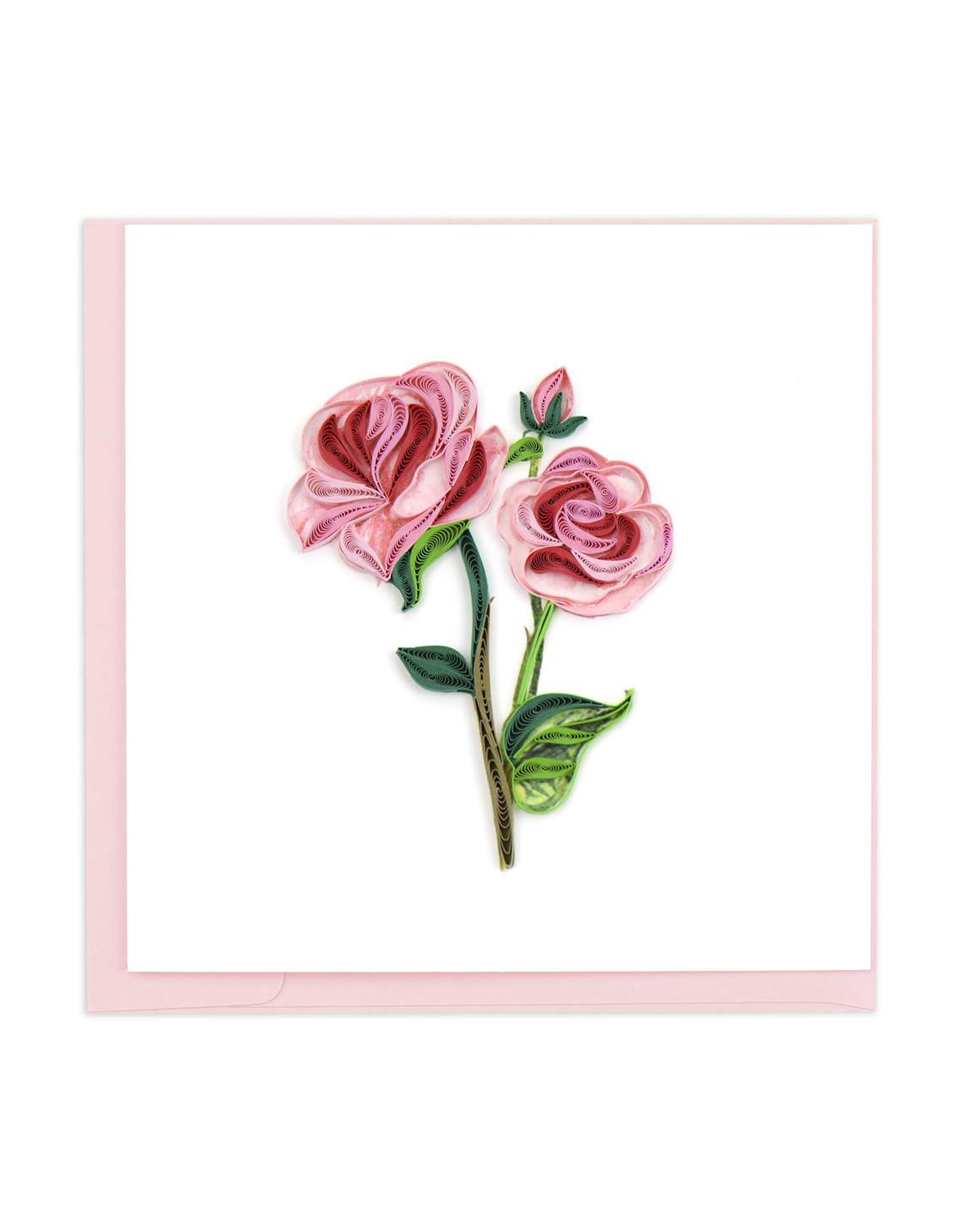 Long Stem Pink Roses Card