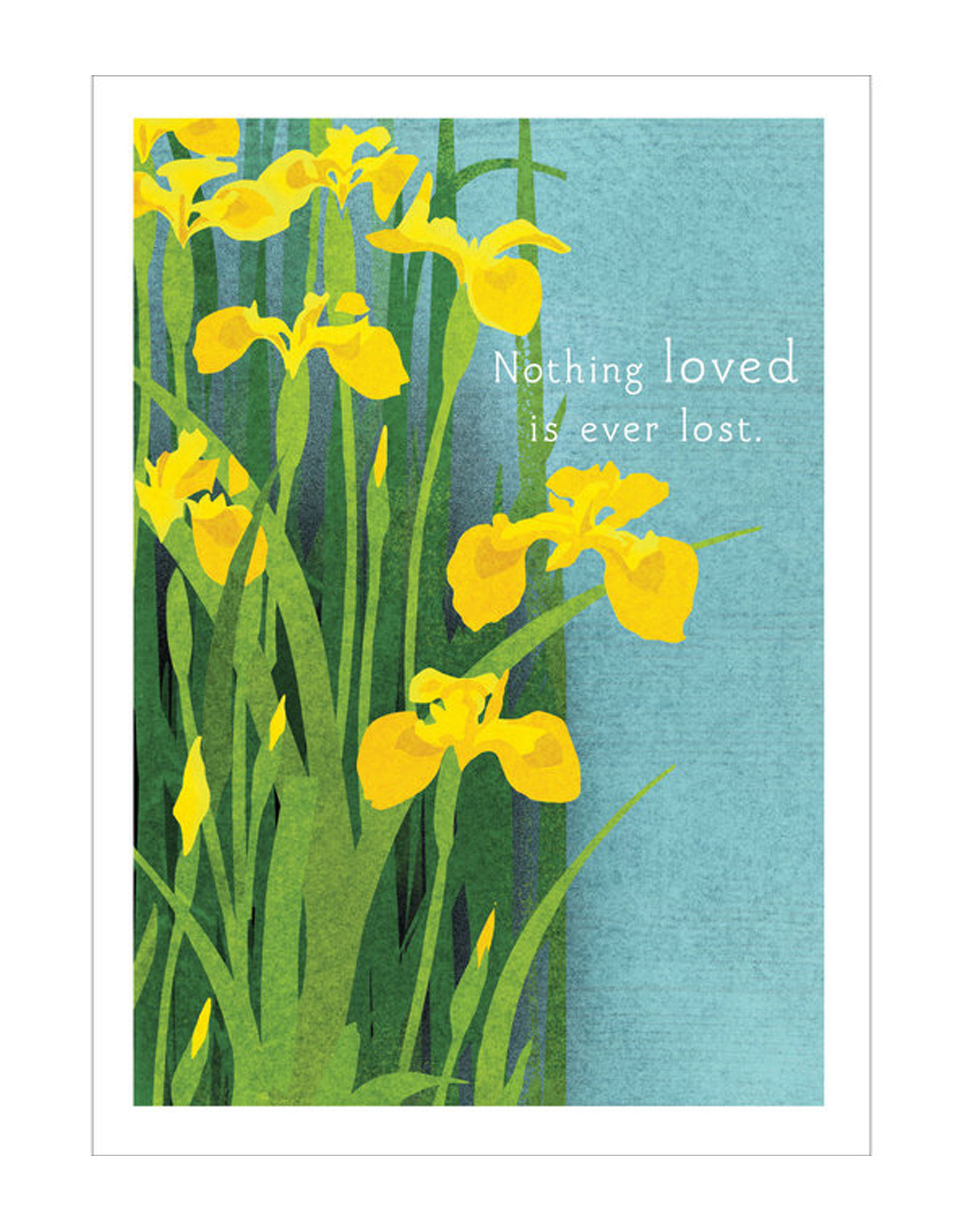 Yellow Iris Sympathy Card