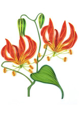 Tiger Lily Quilled Card