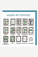 Modern Art Simplified Card