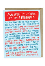 Wishes For Your Birthday Card
