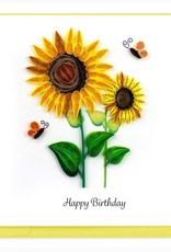 Sunflower Quilled Card