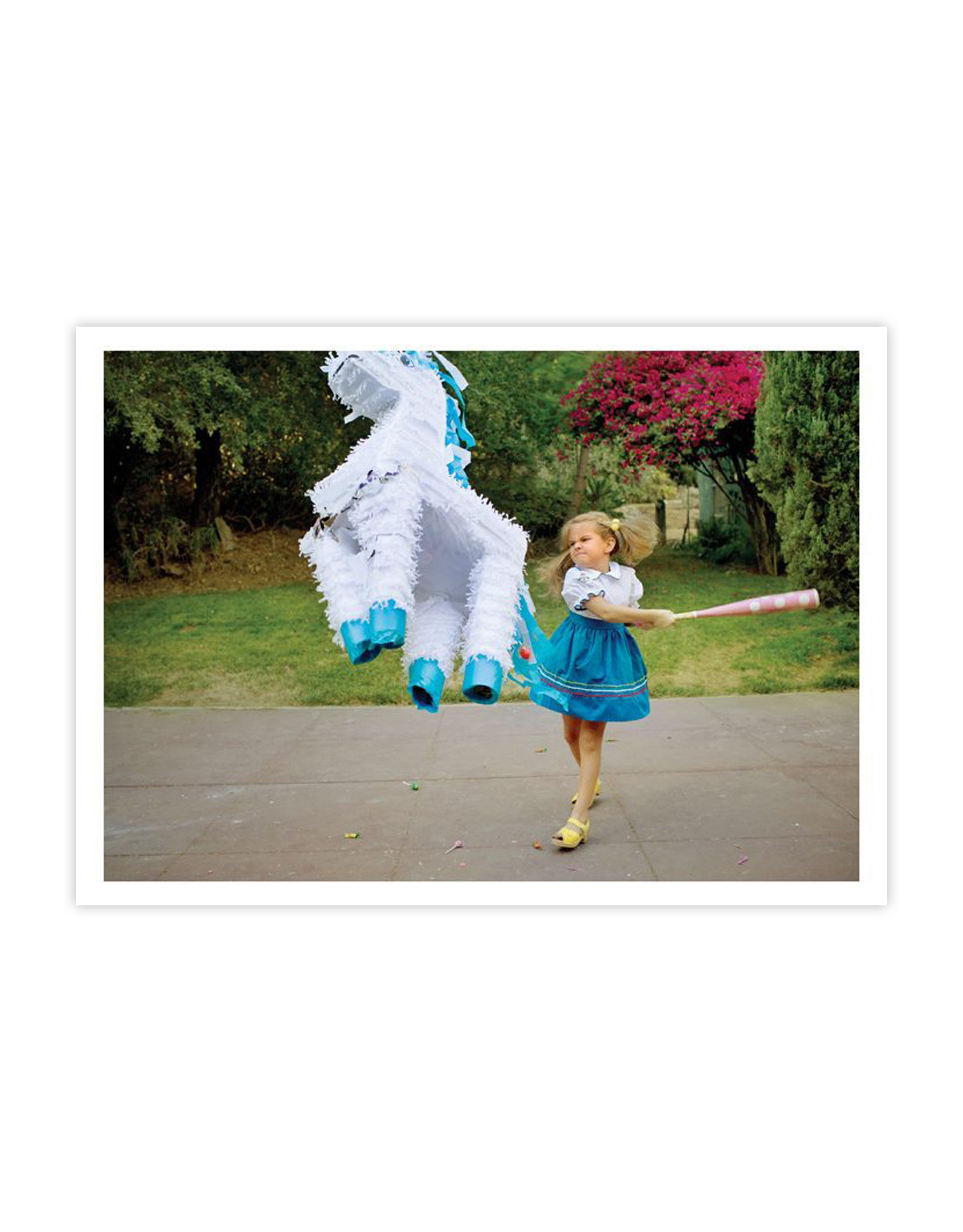 Girl & Pinata Card