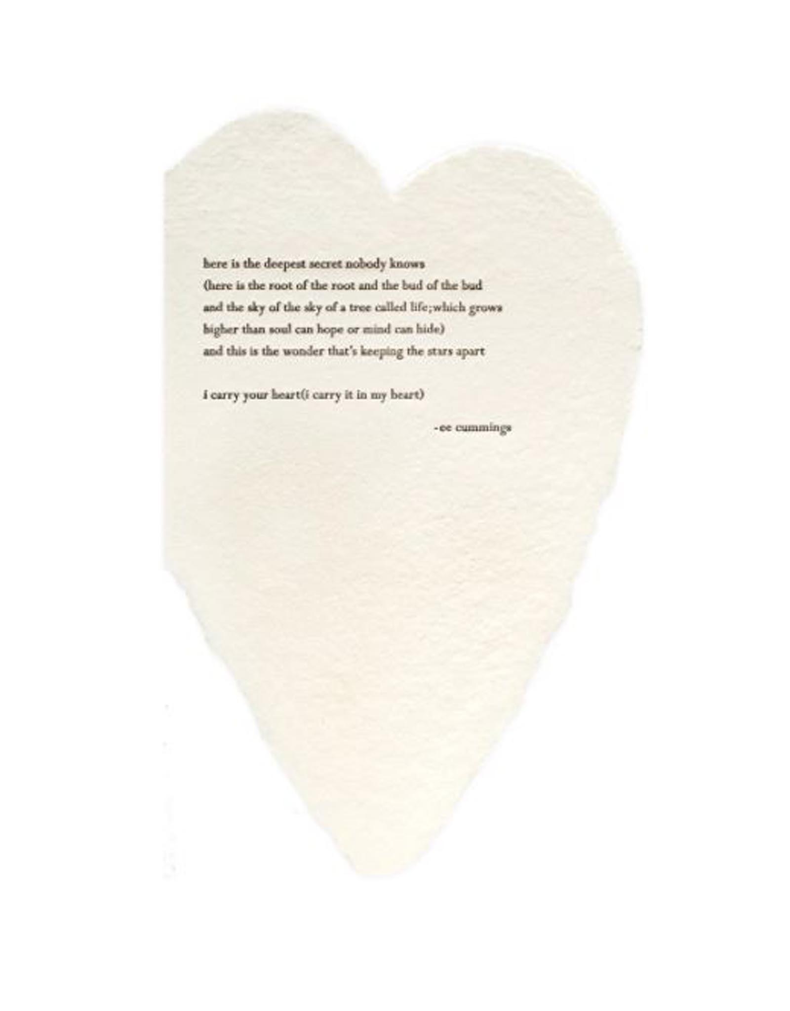 E.E Cummings Heart Card