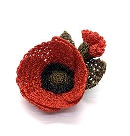 Brooch Flower Poppy