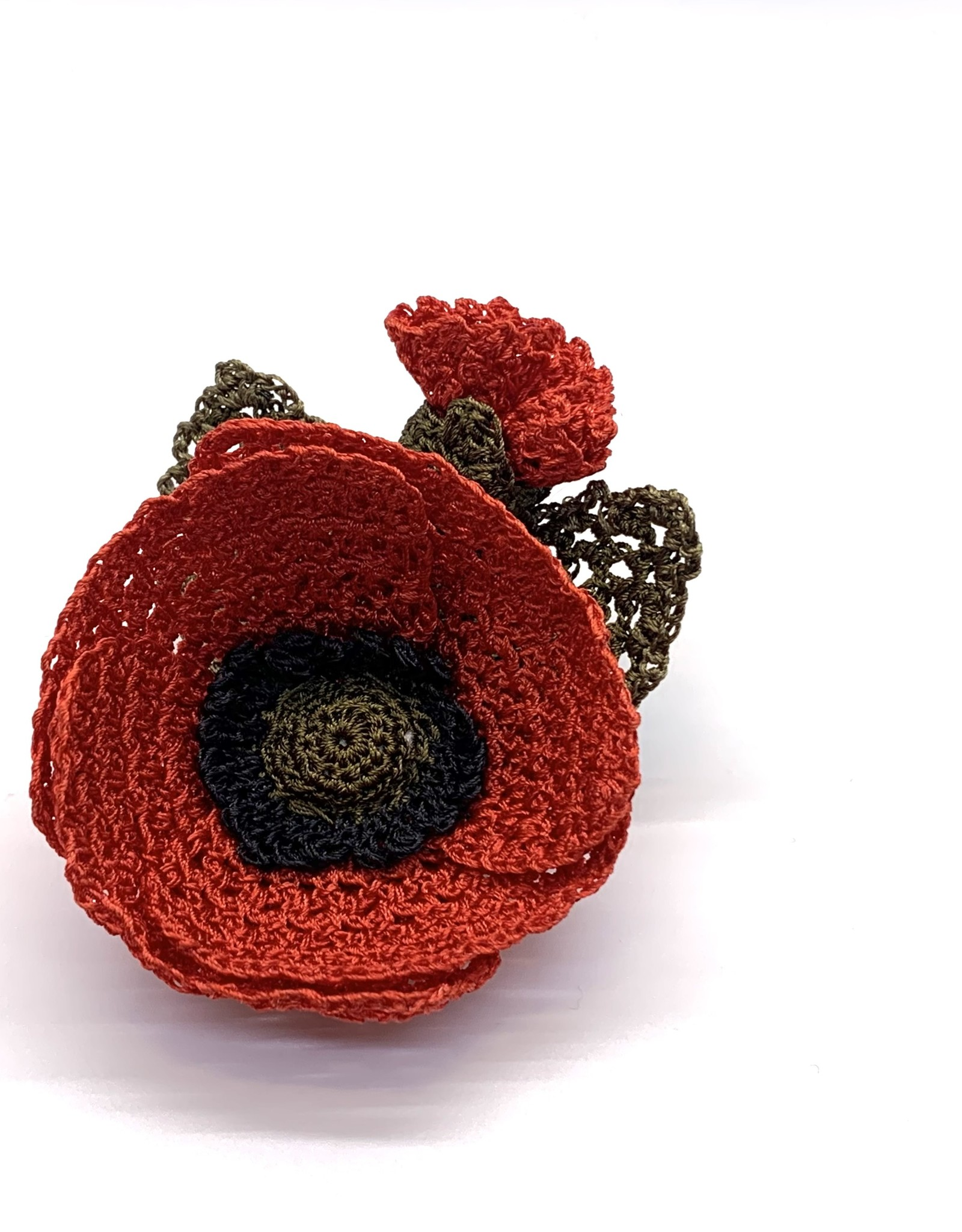 Brooch Flower Poppy