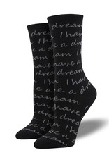 Womens MLK Quote Socks