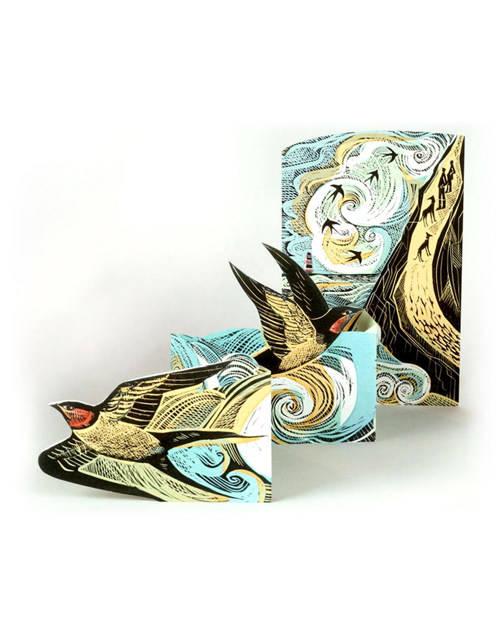 Swallow Concertina Card