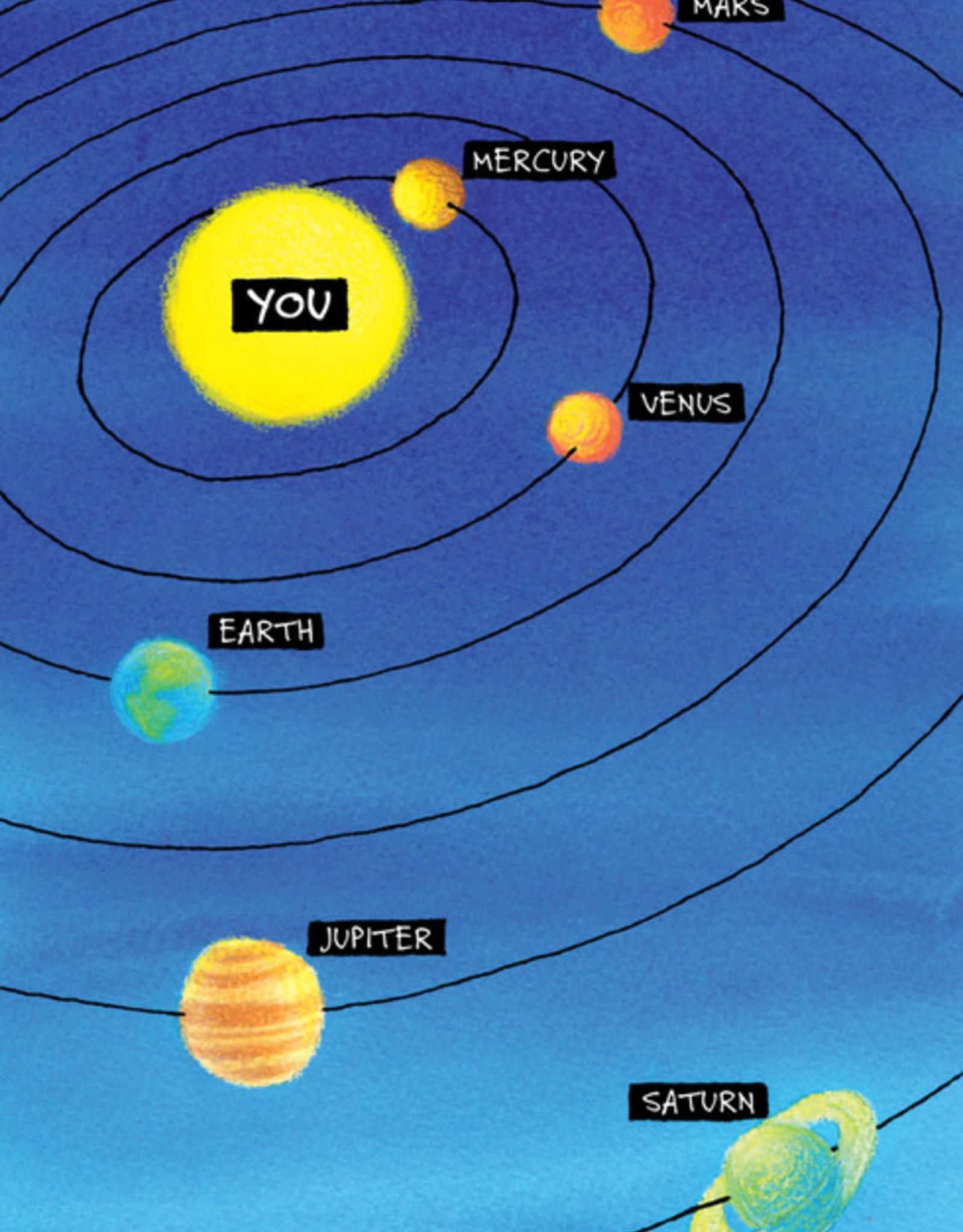 Solar System Birthday Card