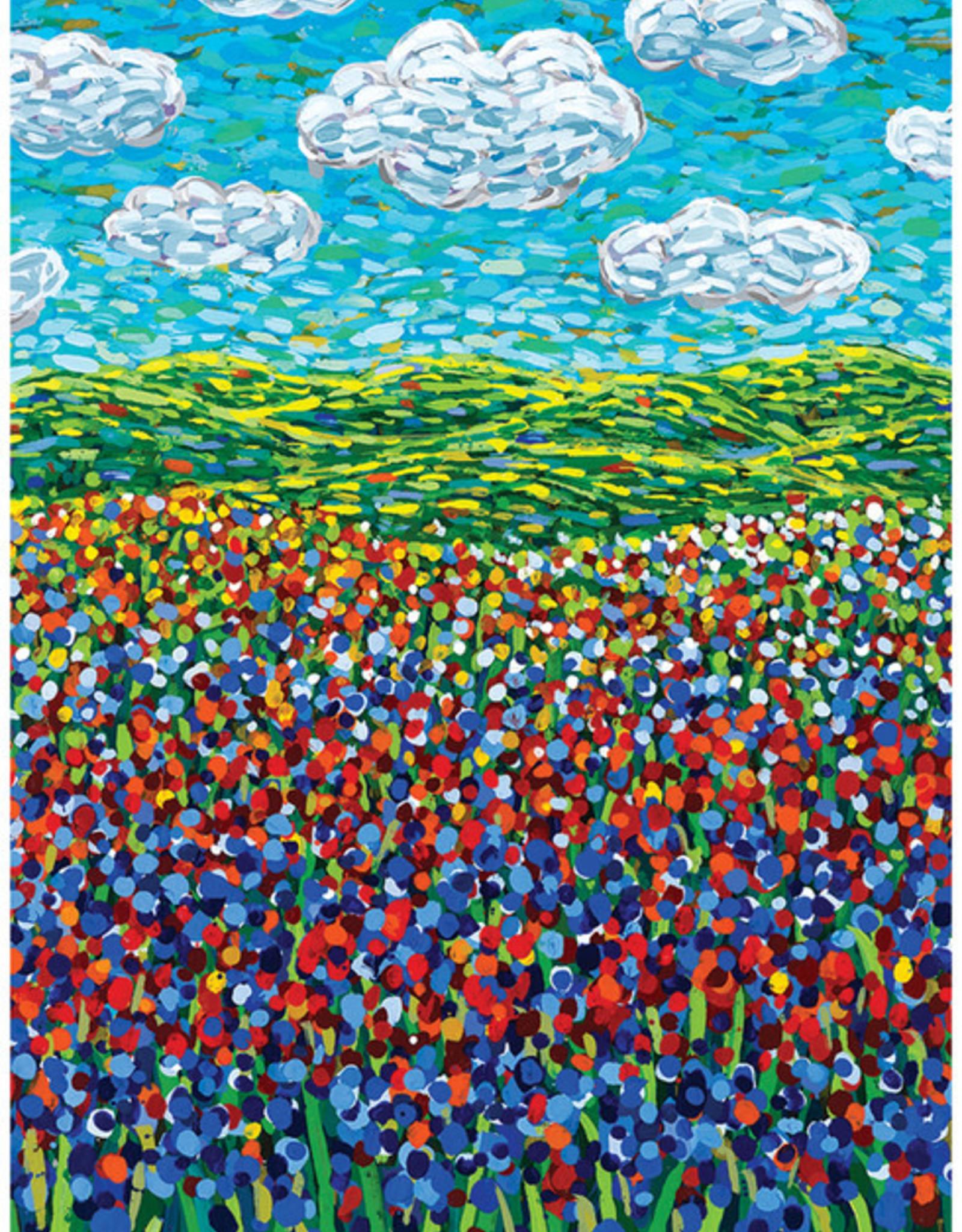 Wildflowers & Clouds Birthday Card