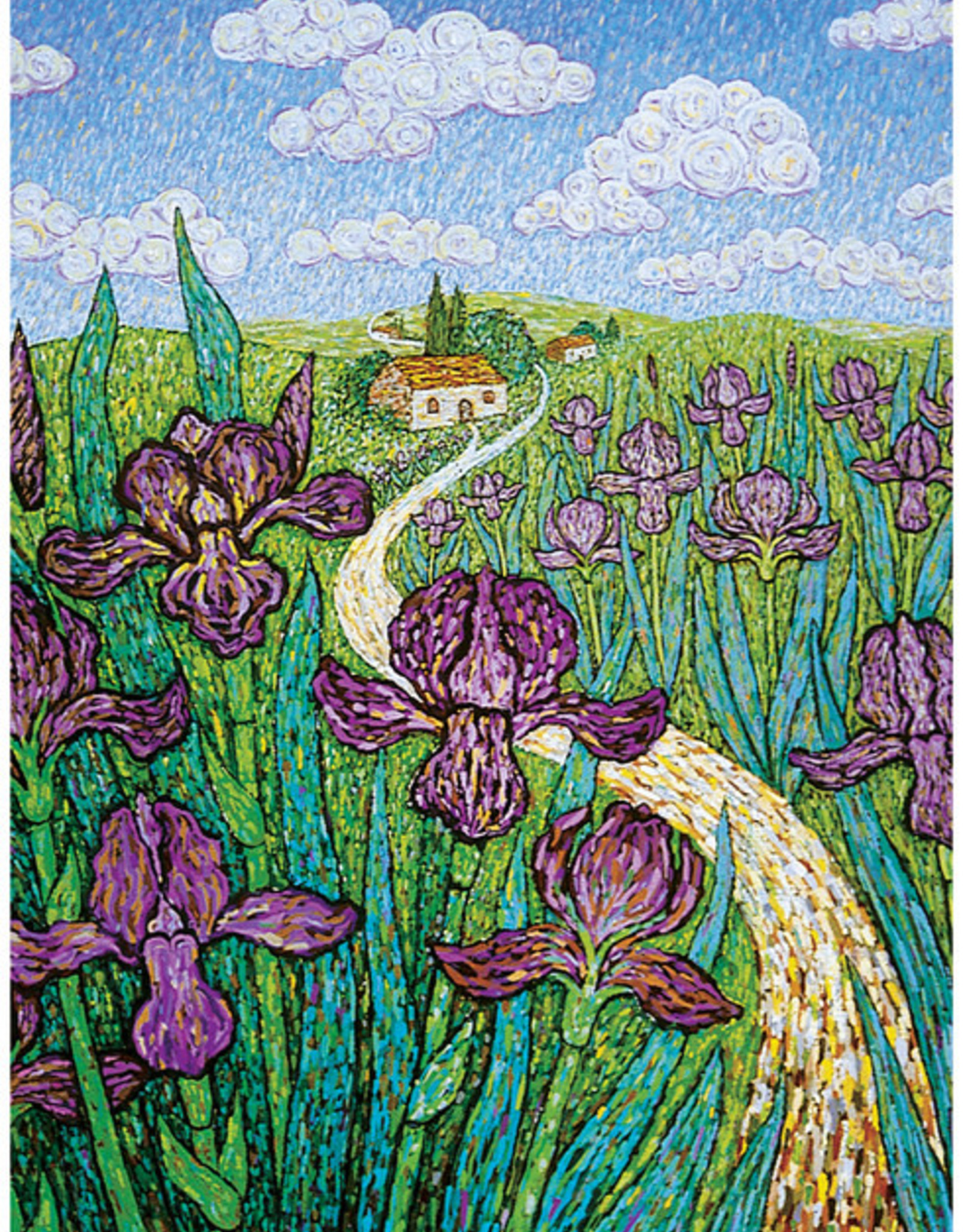 Irises Sympathy Card