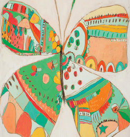 Sweet Cream Butterfly Thank You Card