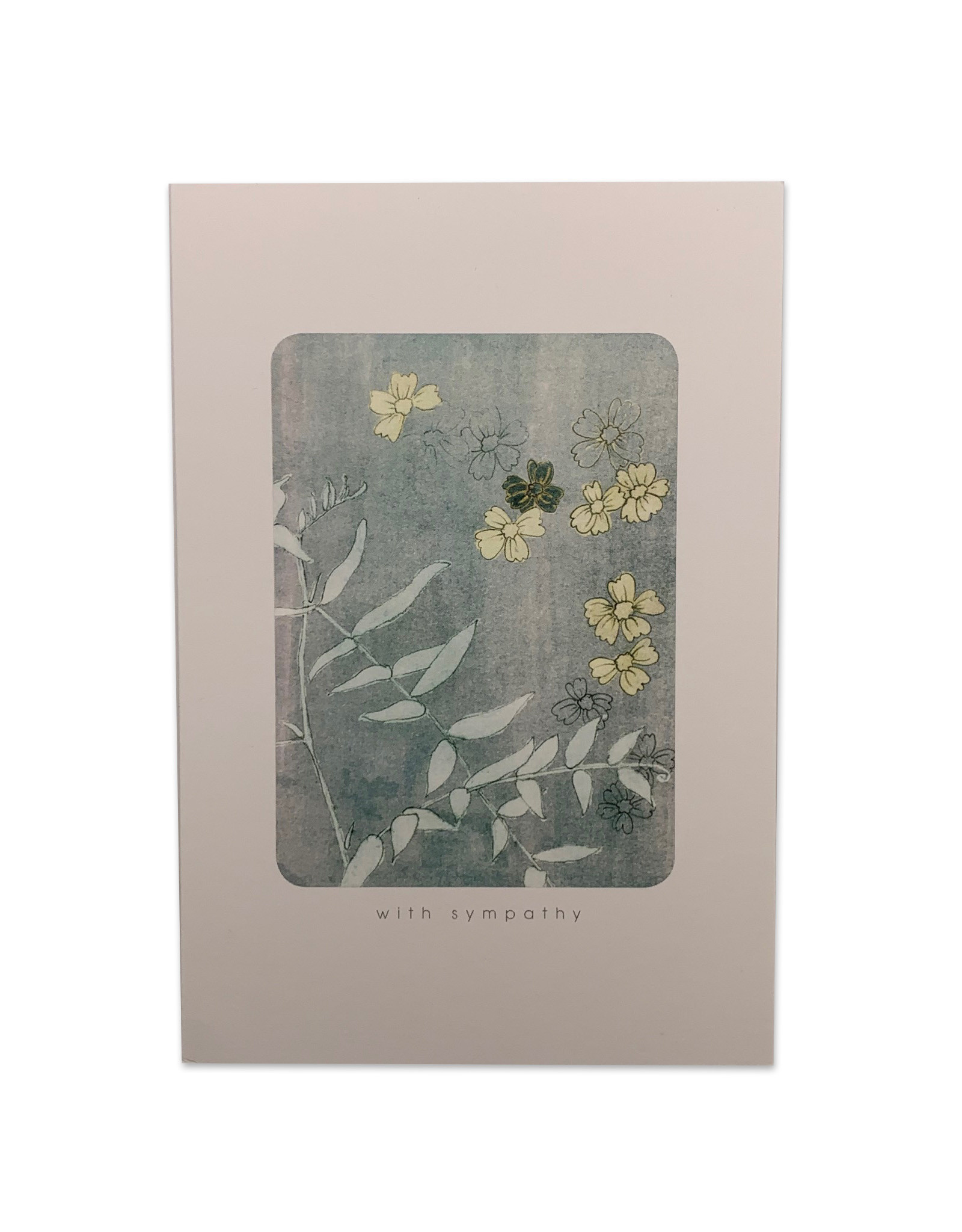 Yellow Flower Sympathy Card