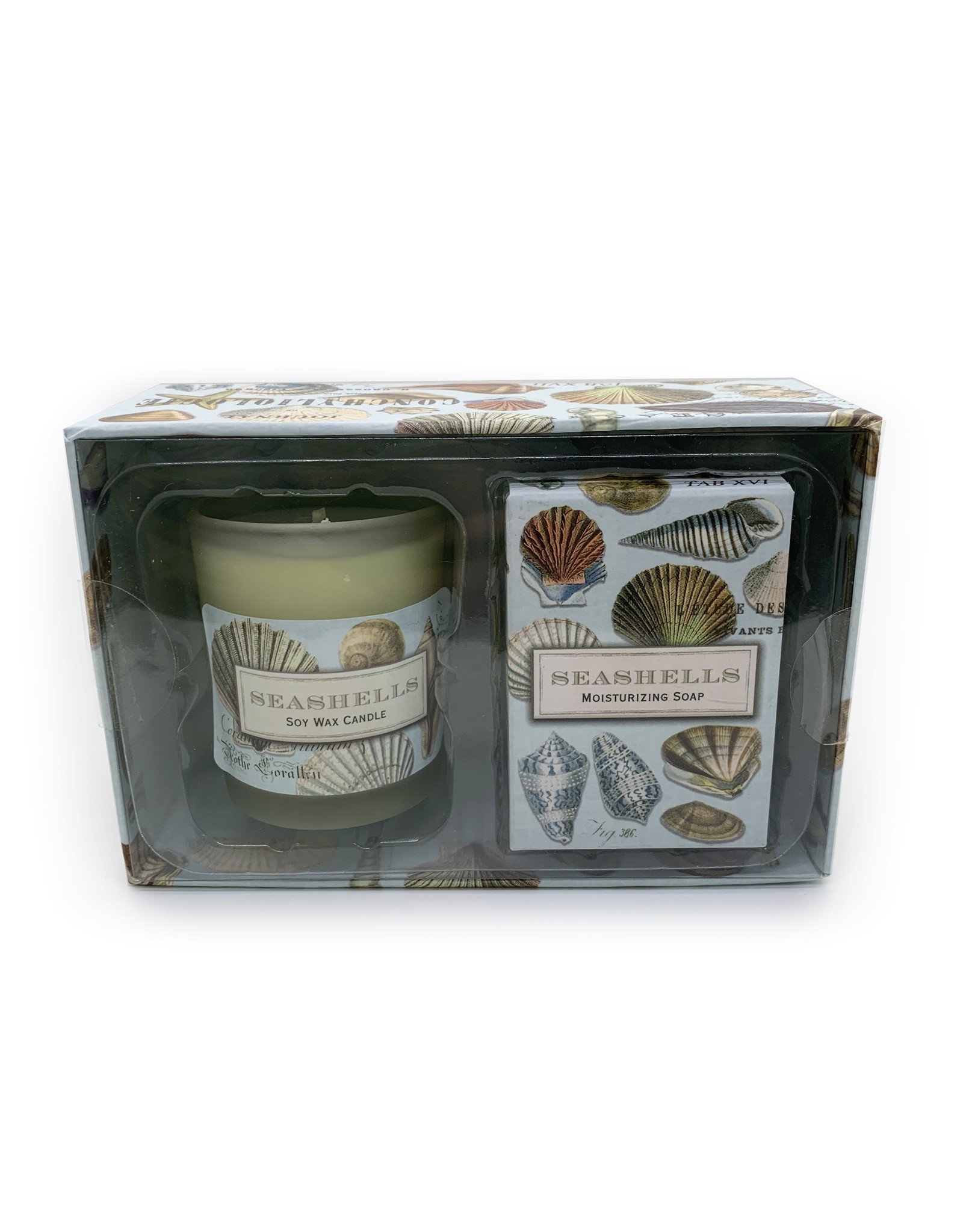 Seashell Candle and Soap Gift Set