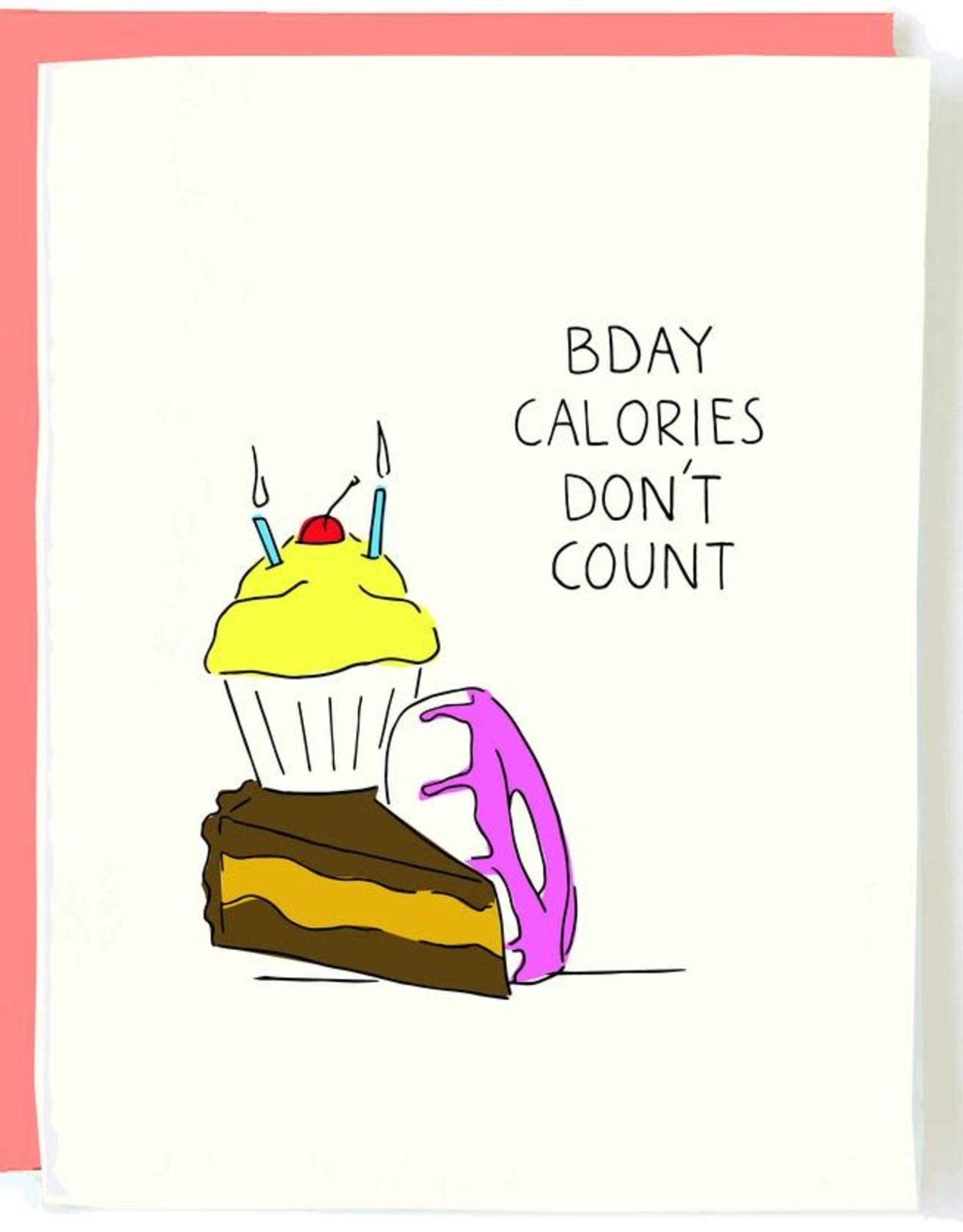 Calories Don't Count Birthday Card