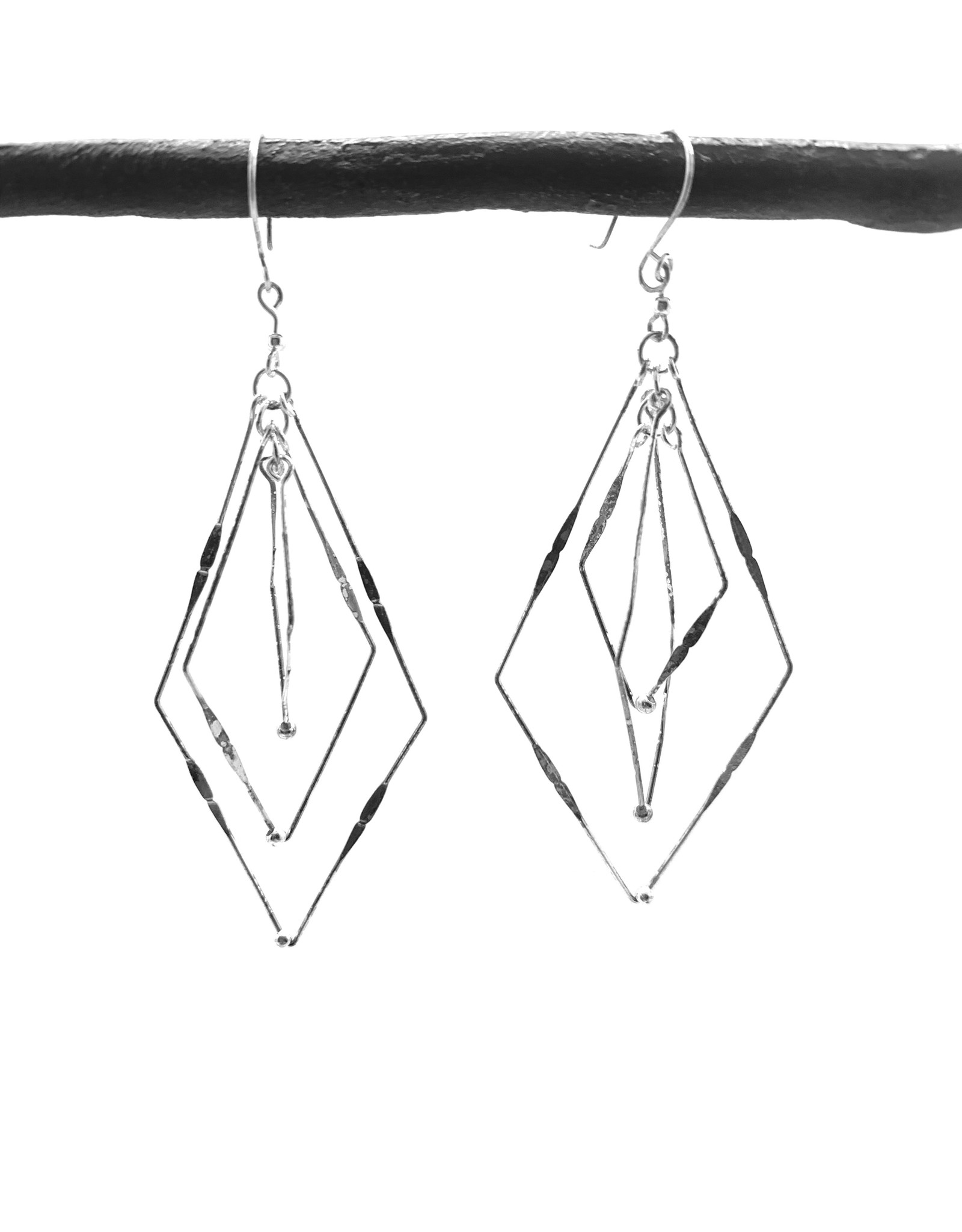 Delicate Triple Tie Dangle Earrings