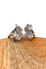 Adjustable Ginkgo Leaf Ring