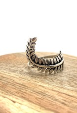 Silver Twisted Fern Ring