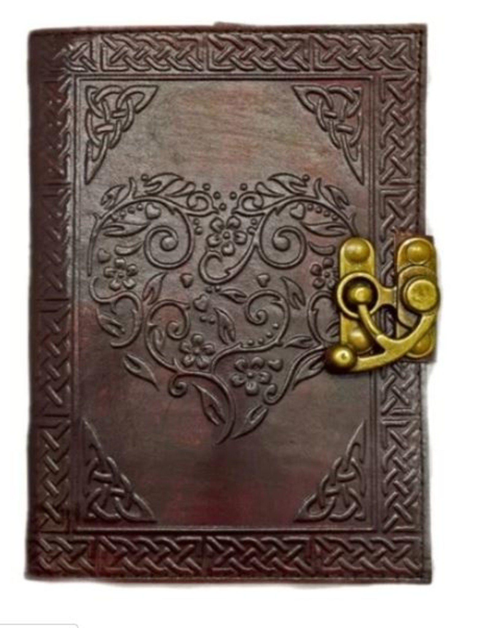 Celtic Heart Leather Embossed
