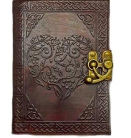 Celtic Heart Leather Embossed Journal