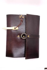 Leather Journal With Wood Peg
